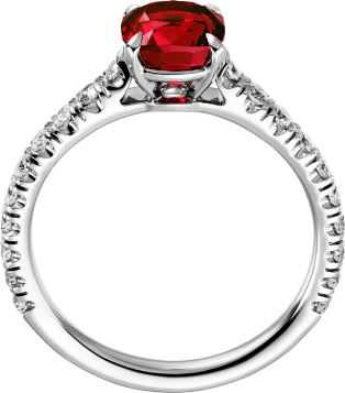 Solitaire 1895 Platinum, rubies, diamonds